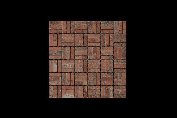 Mega Red Block Mosaic DK048 Polished