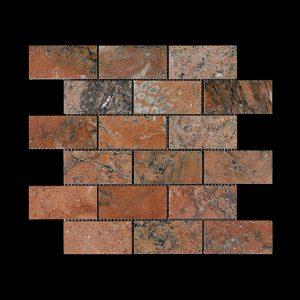 Mega Red Brick Mosaic DK014 POLISHED