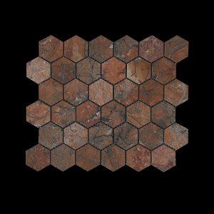 Mega Red Hexagonal Mosaic DK 003 ACID
