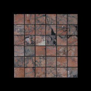 Mega Red Mosaic 4.8 x 4.8 DK010 HONED