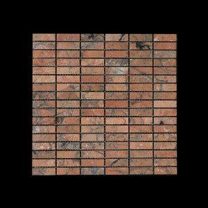 Mega Red Nimbus - Small Linear Mosaic DK598 HONED