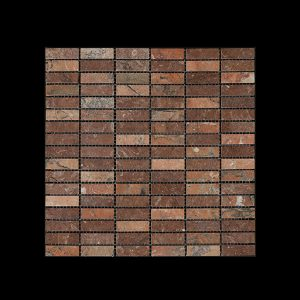 Red Marble Nimbus - Small Linear Mosaic DK598 ACID