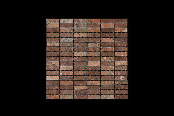 Red Marble Nimbus - Small Linear Mosaic DK598 ACID