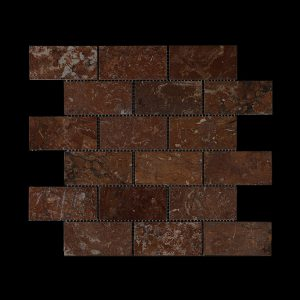 Rosso Chocolate Dark -  Brick Mosaic DK014 POLISHED