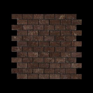 Rosso Chocolate   Dark Small Brick Mosaic DK007 ACID