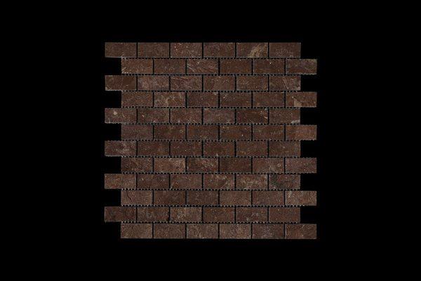 Rosso Chocolate   Dark Small Brick Mosaic DK007 ACID