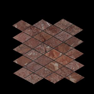 Rosso Chocolate Diamond Mosaic DK030 Polished