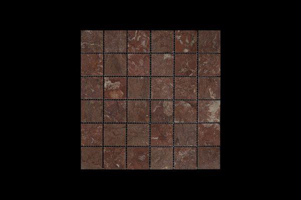Rosso Chocolate Mosaic 4.8x4.8 DK010 ACID