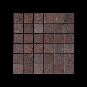 Rosso Chocolate Mosaic 4.8x4.8 DK010 TUMBLED