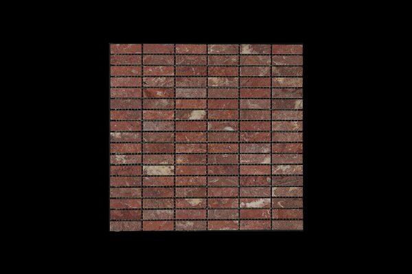 Rosso Chocolate Nimbus - Small Linear Mosaic DK598 ACID