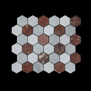 WC-RC Hexagonal Mosaic DK003 POLISHED