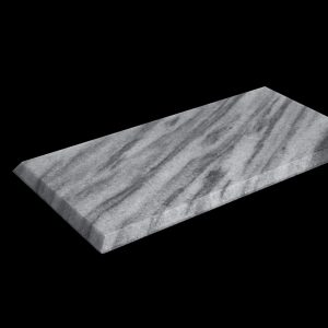 White Crystalline 30x15x1cm Bevel Edge Polished