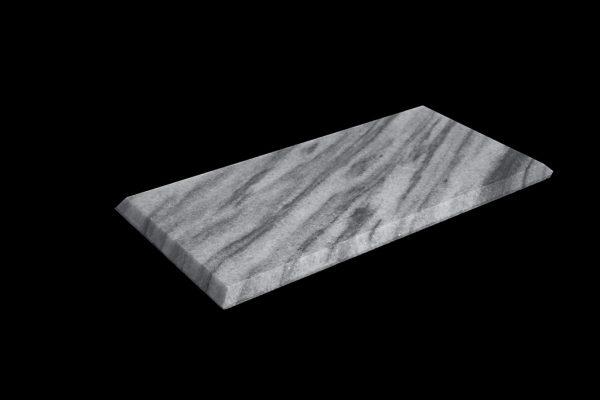 White Crystalline 30x15x1cm Bevel Edge Polished