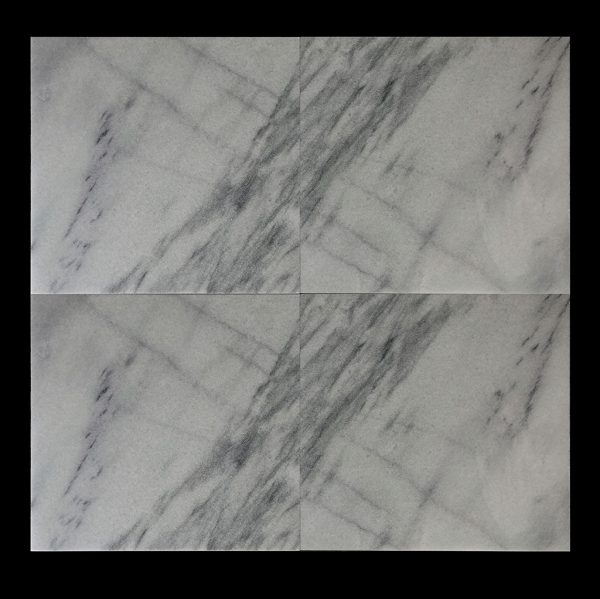 White Crystalline 60x60x2cm CHM Multi Strip Polished