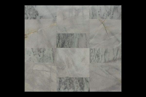 White Crystalline 60x60x2cm Sakura Abu + 30x60x2cm CHM Multi Kb