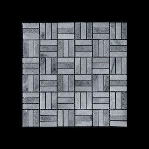 White Crystalline Block Mosaic DK048 Polished