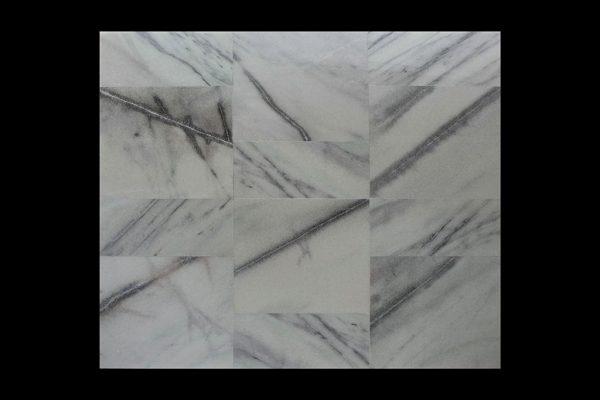 White Crystalline Comb. 60x60x2cm CHM HTM + 30x60x2cm CHM MS