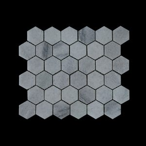 White Crystalline Hexagonal Mosaic DK003 Honed