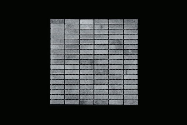 White Crystalline - Nimbus - Small Linear Mosaic DK598 Polished