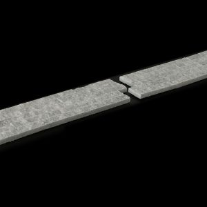 White Crystalline Split Face 10x30cm Interlock