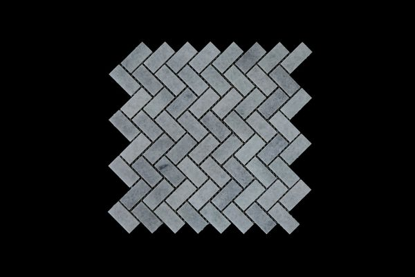 White Crystalline Wave Mosaic DK002 Honed