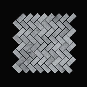 White Crystalline Wave Mosaic DK002 Polished