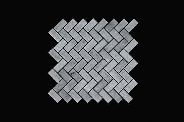 White Crystalline Wave Mosaic DK002 Polished