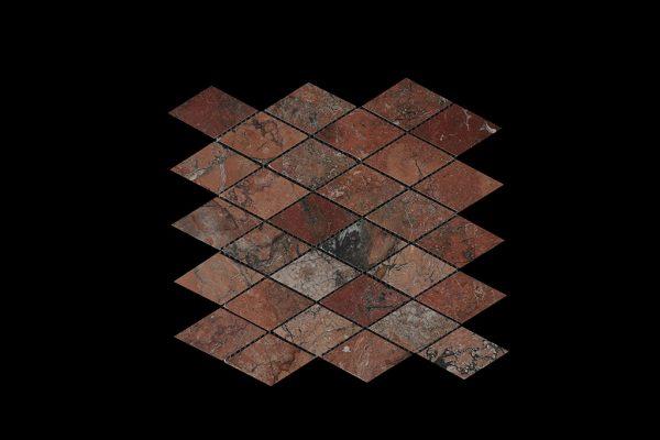 Mega Red Diamond Mosaic Dk030 Polished