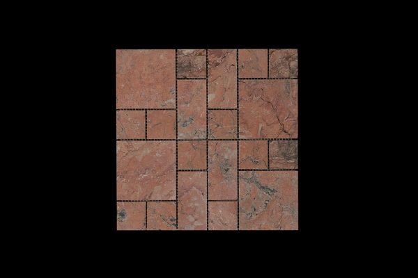 Mega Red Mosaic DK027 Honed