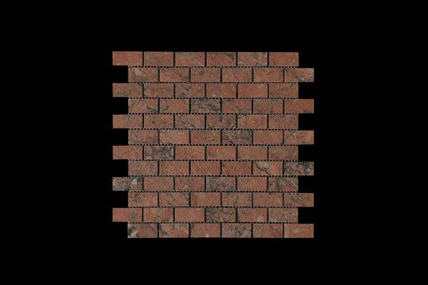 Mega Red Small Brick Mosaic DK007 Acid