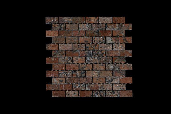 Mega Red Small Brick Mosaic DK007 POLISHED