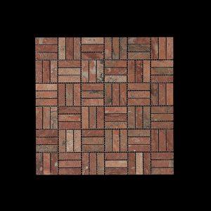 Red Marble Block Mosaic DK 048 Acid