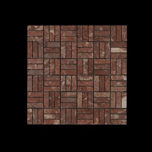Rosso Chocolate Block Mosaic DK 048 Polished