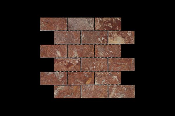 Rosso Chocolate Brick Mosaic DK014 ACID