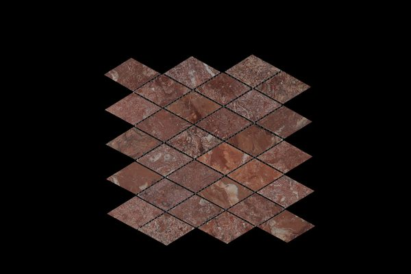 Rosso Chocolate Diamond Mosaic DK030 Polished