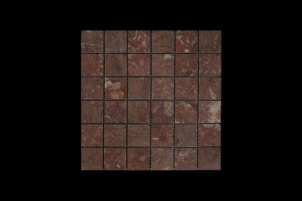 Rosso Chocolate Mosaic 4.8x4.8 DK010 ACID