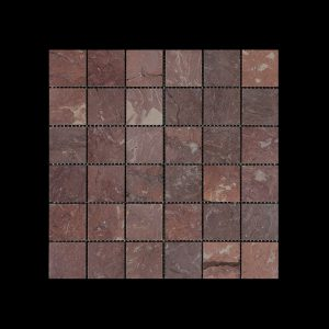 Rosso Chocolate Mosaic 4.8x4.8 DK010 HONED