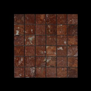 Rosso Chocolate Mosaic 4.8x4.8 DK010 POLISHED