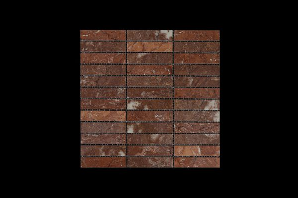 Rosso Chocolate Mosaic DK088 POLISHED