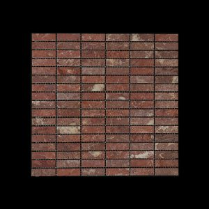 Rosso Chocolate Nimbus - Small Linear Mosaic DK598 ACID