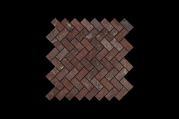 Rosso Chocolate Wave Mosaic DK 002 HONED