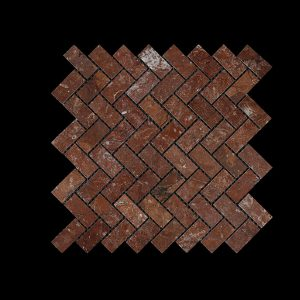 Rosso Chocolate Wave Mosaic DK002 POLISHED