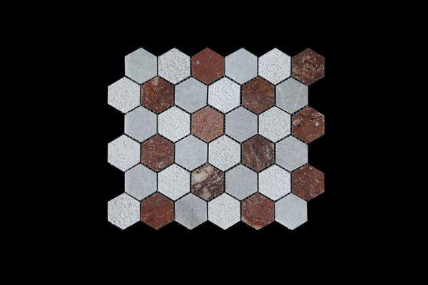 WC-RC Hexagonal Mosaic DK003 POLISHED