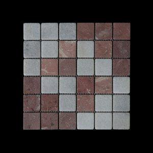 WC-RC Mosaic 4.8x4.8 DK010 TUMBLED