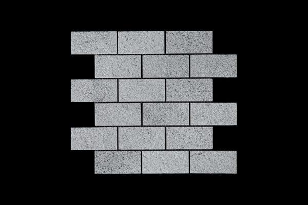 White C - DK014 Large Brick - BUSH HAMMER