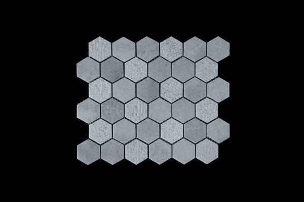 White C - Hexagonal  - DK003 HON + BUSH HAMMER