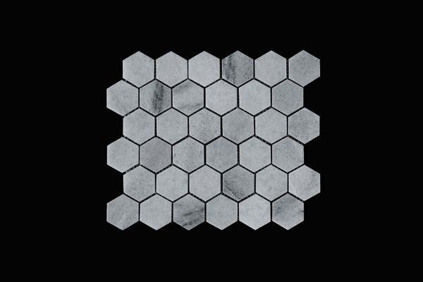 White Crsytalline - Hexagonal Mosaic DK003 Polished