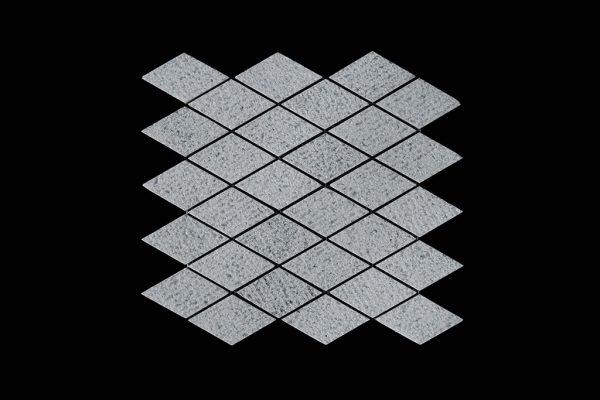 White Crystalline DIamond Mosaic DK030 Bush Hammer