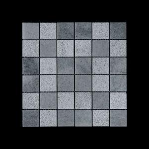 White Crystalline Mosaic 4.8x4.8 DK 010 Pol + Bush Hammer