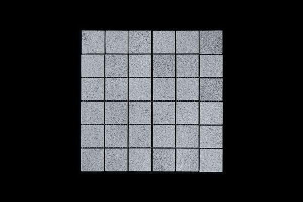 White Crystalline Mosaic 4.8x4.8 DK010 Bush Hammer